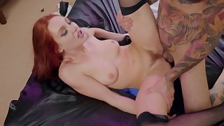 Tattooed man is lucky enough to fuck perforator wholesale in stockings