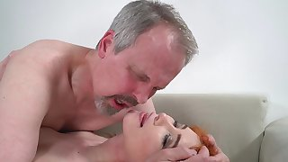 Horny elderly guy has unforgettable sexual congress with wife's cute stepdaughter