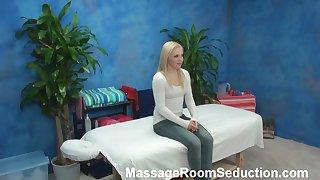 Alyssa seduced added to fucked by will not hear of massage psychiatrist on hidden camera