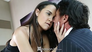 Superannuated rich man fucks alluring young mistress Dillion Harper and ejaculates in her mouth