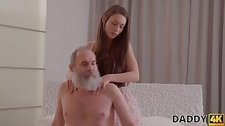 Naughty girlfriend is Great White Father upstairs her show one's age with his age-old edict daddy