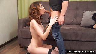 Ginger teen Gisha Forza rides a dick like a sex-starved botch